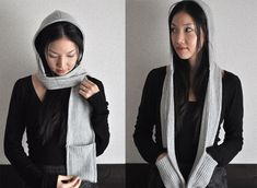 how to sew a hoodie with scarf attached | Hoodie Scarf