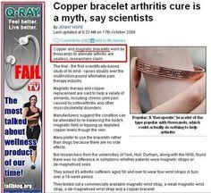 Ad Placement Fail - Copper Bracelet Myth Beside Ad For Copper Bracelet