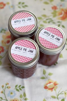 Apple Pie Butter Recipe with no added sugar ~ canned