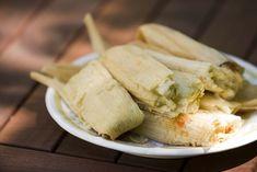 Chicken Tamales with Salsa Verde