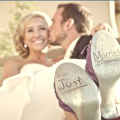 Cute wedding picture idea, mine would be with converse though... not high heels.