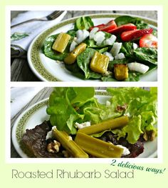 Roasted Rhubarb Salad – 2 ways!