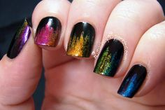 Jagged Rainbow Gradient with Color Club Take Wing Glass Fleck Collection