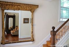 Antique mantel mirror.  I collect large, gold Victorian mirrors… the more ornate, the better!
