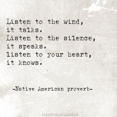 Native American Proverb.
