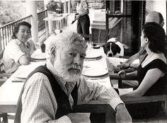 Ernest Hemingway on his sixtieth birthday.