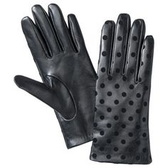 Polka dot leather gloves from Target $22