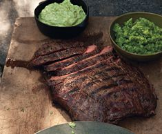 Flank steak with ahi and guacamole