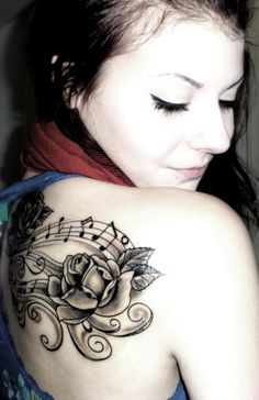 #music #rose #tattoo #inked