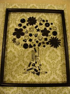 Neat DIY artwork using up cycled items around the house. Rather cool idea I think.