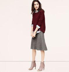 Fluted Midi Skirt | Loft