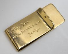 """Years before her death, Marilyn Monroe asked Whitey to promise her that he'd do her makeup for her funeral should she predecease him. He jokingly replied """"Sure, drop off the body while it's still warm and I'll do it."""" Amused, Marilyn bought him a gold Tiffany money clip engraved: """"Dear Whitey, While I'm still warm, Marilyn."""""""