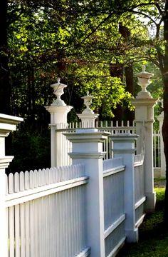 decor, white picket fences, detail, beauti fenc, wharton estat, edith wharton, garden, gate, beautiful fences