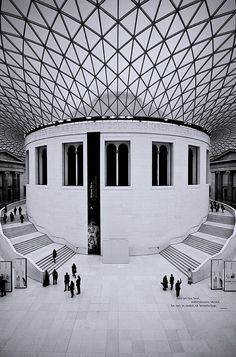 British Museum atrium: foster & partners  : photo by David Henderson