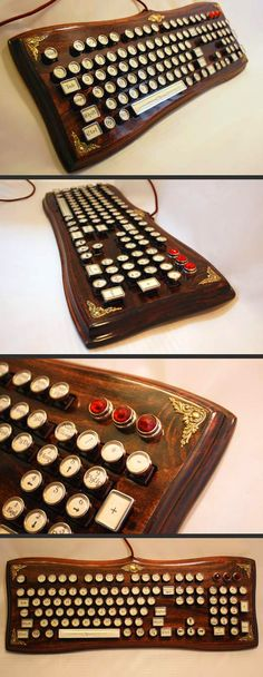Possibly the classiest computer keyboard ever...