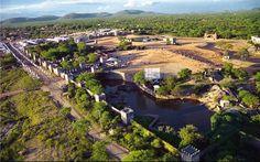 Vista de Nova jerusalém, o maior teatro ao ar livre do mundo. Brejo da Madre de Deus.