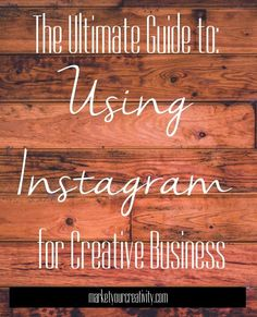 Instagram for Creative Business