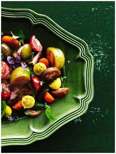 Tomatoes. Photo – Sharyn Cairns, Prop Styling – Glen Proebstel, food styling – Deb Kaloper. #salad