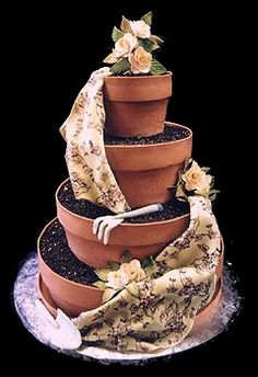 ♥♥Things people do with cakes. I want to do this one day  Mike Amaz, Cake Flower, Pot Cake, Cake Design, Cakes, Garden Cake, Flower Pots, Garden Pot, Amaz Cake
