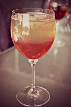 Peach & Grenadine Vodka Drink