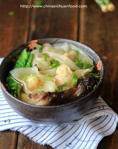 Chinese Shrimp Wonton Soup Recipe - RecipeChart.com
