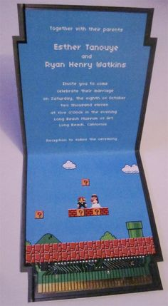Super Mario Wedding Invitations <3