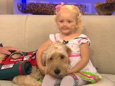 Girl's best friend is dog who carries her oxygen  After their daughter was diagnosed with a rare lung disease, the Knobloch family had to figure out how their little girl would be able to carry a portable oxygen tank everywhere she went. Mr. Gibbs, a golden doodle puppy, came to their rescue.
