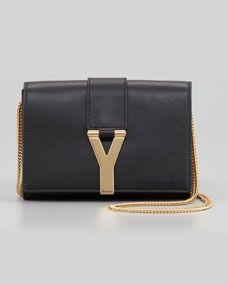 Mini Y Ligne Pochette Crossbody Bag, Black