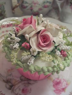 cake idea, cake decor, roses, cup cake, pink, decor cake, cupcakesmini cake, pretti, beauti rose