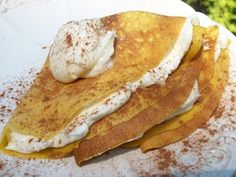 pumpkin crepes; perfect for fall