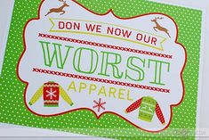 FREE printable for an Ugly Sweater Party