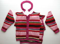 How to recycle a baby sweater for your doll