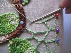 Joining motifs, Irish Crochet Style