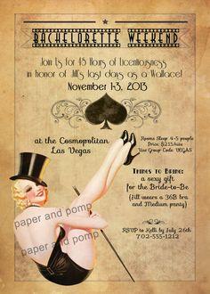 Bachelorette Party Las Vegas Burlesque Girls by PaperandPomp, $16.00