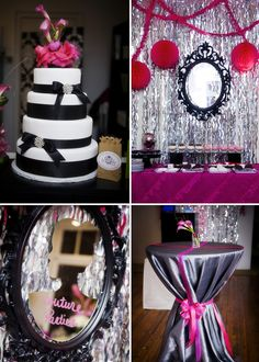 """Theme Parties   """"Pink Couture""""   Great decoration ideas"""