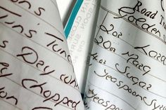 ♥ HOW TO TURN HANDWRITTEN RECIPES INTO TEA TOWELS