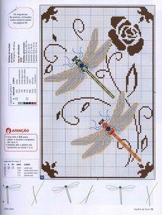 Dragonfly  Todos los esquemas de punto de cruz que te puedas imaginar | Aprender manualidades es facilisimo.com