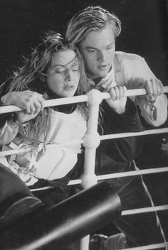 Jack and Rose during the sinking of Titanic
