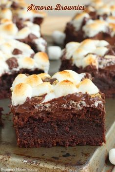 Outstanding taste with the perfect amount of gooey-ness, these rich s'more brownies put a fun spin on the classic smores. Ooey, gooy and oh-so-good