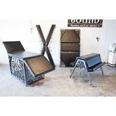 Cross, Cage/table, Spanking Horse and Padded  Bondage Wall piece? Yes please! www.metalbound.com --- dungeon furniture