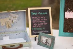 Ask your guests to put wishes, hopes and advice in your Time Capsule! | Fun wedding idea |