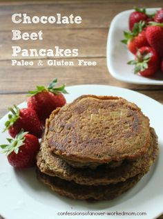 Chocolate Beet Pancakes - Paleo & Gluten Free Thanks for sharing at vegetarianmamma.com's #glutenfreefridays link up!  #glutenfree #gfree #gf