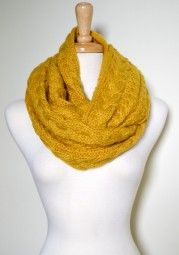 Enjoy this gorgeous and soft knitted infinity scarf all season long.  It is functional and versatile from day-to-night. $39.99 Use code PINIT at checkout for 10% off your entire order.