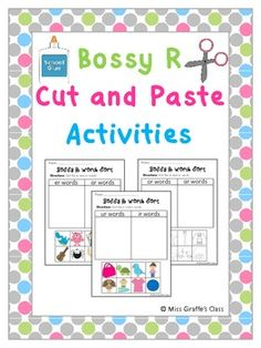 Bossy R Cut and Paste Activities