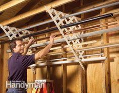 Lattice Rack Use plastic lattice to store those leftover pieces of pipe and trim.