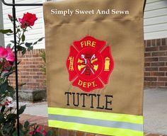 Personalized Firefighter/fire man/ fire Department Full Maltese Cross Garden Flag on Etsy, $30.00