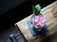 Basil Cranberry Julep | Serious Eats : Recipes