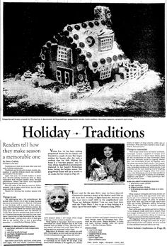 """A newspaper article providing recipes for holiday treats, published in the Dallas Morning News (Dallas, Texas), 8 December 1983. Read more on the GenealogyBank blog: """"Holiday Recipe Ideas for Good Old-Fashioned Home Cooking."""" http://blog.genealogybank.com/holiday-recipe-ideas-for-good-old-fashioned-home-cooking.html"""