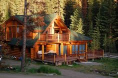 Waterfront cabin in the woods.