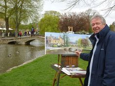 It is not everyday that one of the world's most famous Watercolor Painters posts on our Facebook page - but it happened today. This photo is from Terry Harrison, a painter from the UK. He is painting plein air on the village green at Bourton on the Water. Terry is teaching a workshop here with us in Boone, NC during May 2014. We still have a few spots open if anyone out there would like to take his class. Terry - thank you for posting with us today!!!!